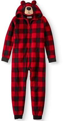 Komar Kids Boy's Buffalo Plaid Bear Hooded Pajama Sleeper (Little Boys & Big Boys)