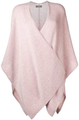 N.Peal Waterfall knitted cape