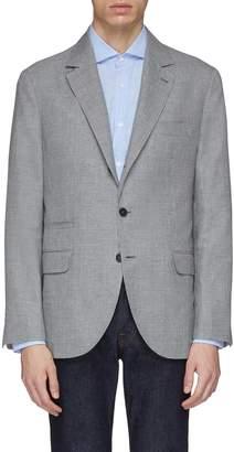 Brunello Cucinelli Linen-wool-silk houndstooth soft blazer
