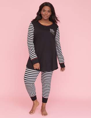 Lane Bryant Henley Top & Legging PJ Set