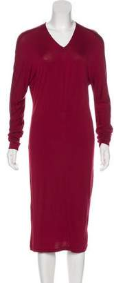 Calvin Klein Collection Long Sleeve Midi Dress