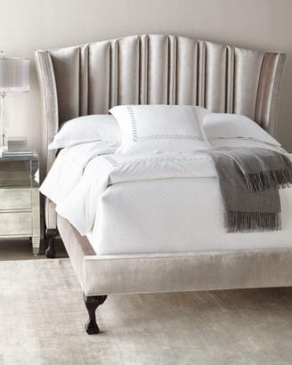 Haute House Eastwood Channel-Tufted Queen Bed
