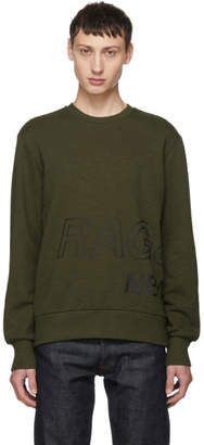 Rag & Bone Grey Army Wrap Around Logo Sweatshirt
