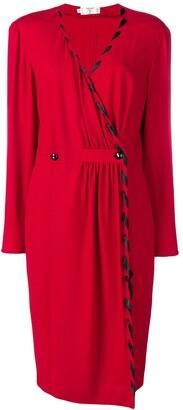 Valentino Pre-Owned v-neck buttoned dress