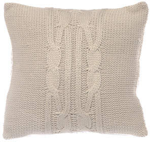 Nautica Lawndale Cable Knit Throw Pillow