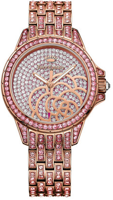 Juicy Couture Women's Charlotte Bling Crystal Bracelet Watch $495 thestylecure.com