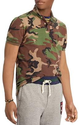 Polo Ralph Lauren Camouflage-Print Mesh Custom Slim Fit Polo Shirt
