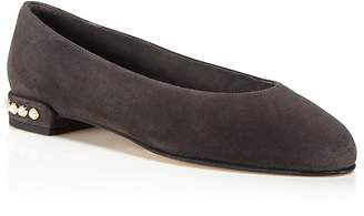 Stuart Weitzman Chicpearl Suede Flats $398 thestylecure.com