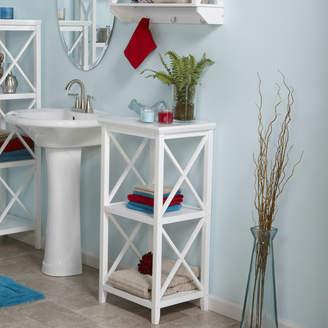 "Beachcrest Home Nellis 18"" W x 36.25"" H Bathroom Shelf"