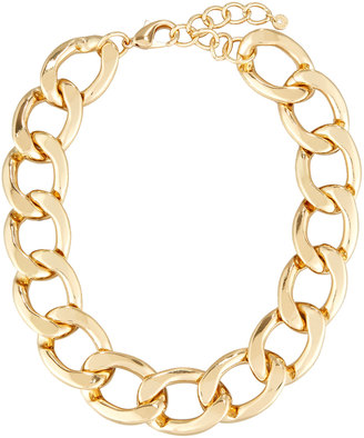 Lydell NYC Statement Chain-Link Necklace, Gold $40 thestylecure.com