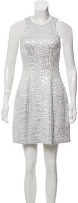 Rebecca Taylor Sleeveless Printed Mini Dress