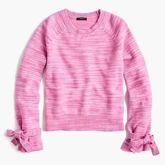 J.Crew Collection tie-sleeve sweater