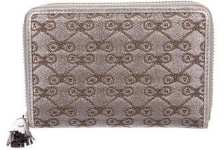 Anya Hindmarch Metallic Jacquard Wallet