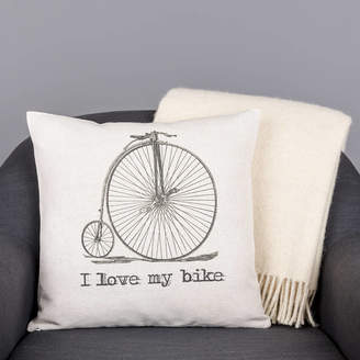 Vintage Designs Reborn 'I Love My Bike' Cushion Cover