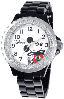 Disney Mickey Mouse Womens Black Bracelet Watch-W001637