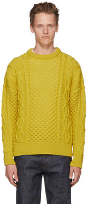 Ami Alexandre Mattiussi Yellow Irish Crewneck Sweater
