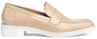 H&M Leather Loafers - Beige