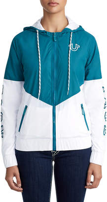 True Religion WOMENS ATHLETIC WINDBREAKER JACKET