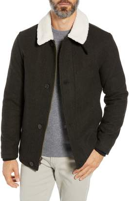 Cole Haan Faux Shearling Trim Field Jacket