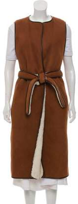 The Row Longline Shearling Vest