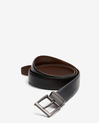 Express Reversible Perforated Strap Stretch Belt