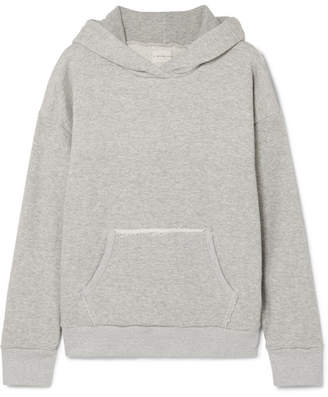 Simon Miller Boise Frayed French Cotton-terry Hooded Sweatshirt - Gray
