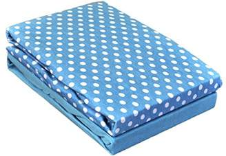 Chicco Dudu N Girlie Cotton Next2Me Crib Fitted Sheets, Abstract Blue, 2-Piece