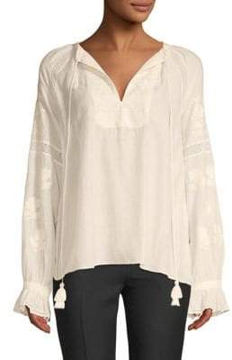 Love Sam Embroidered Long-Sleeve Top