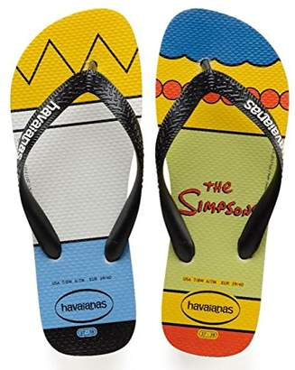 Havaianas Unisex Adults' Simpsons Flip Flops,WHITE/BLACK,8.5 UK (43/44 EU) (41/42 BR)