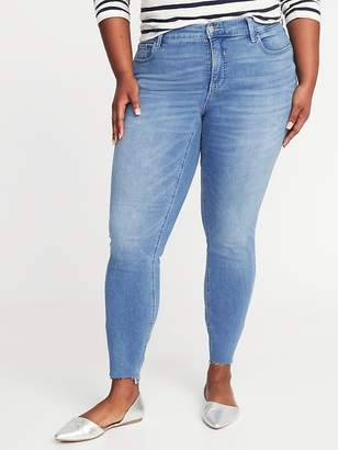Old Navy High-Rise Secret-Slim Pockets Plus-Size Rockstar Step-Hem Jeans
