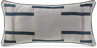 "Waterford CLOSEOUT! Sinclair Indigo 12"" x 24"" Deocrative Pillow"