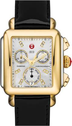 Michele Deco Diamond Dial Two-Tone Watch Head, 33mm x 35mm