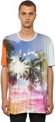 Balmain Oversize Printed Cotton Jersey T-Shirt
