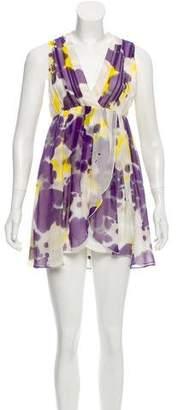 Alice + Olivia Printed Sleeveless Mini Dress