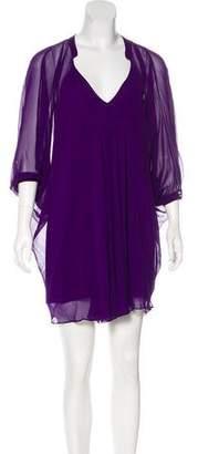 Diane von Furstenberg Silk Fleurette Dress