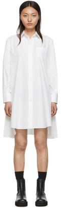 Sacai White Cotton Poplin Dress