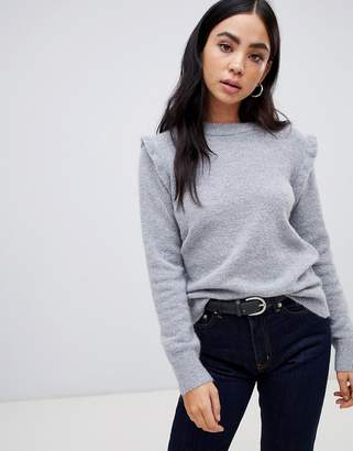 B.young Ruffle Sleeve Sweater