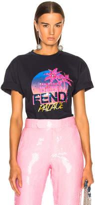 Fendi Palace Embellished Graphic Tee