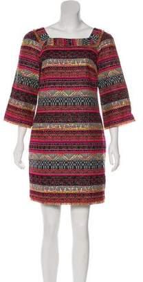 Trina Turk Embroidered Long Sleeve Mini Dress