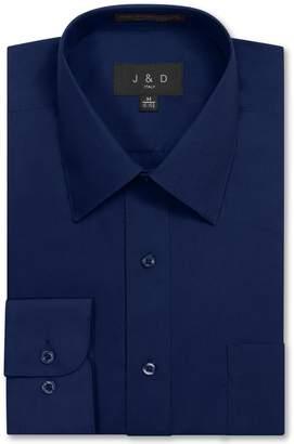 N. JD Apparel Mens Long Sleeve Regular Fit Solid Dress Shirt 15-15.5 32-33 S