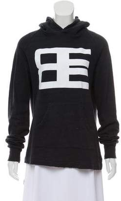 Baja East Graphic Hooded Sweater