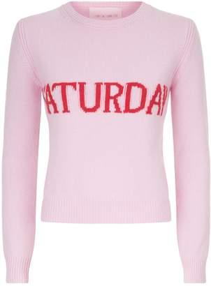 Alberta Ferretti Wool-Cashmere Saturday Sweater