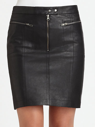 A.L.C. Arantes Leather Skirt