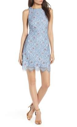 AVEC LES FILLES Floral Lace Dress