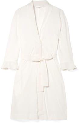 Skin - Blake Voile-trimmed Pima Cotton Robe - Ivory