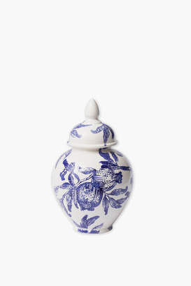 Vietri Melagrana Blue Small Ginger Jar