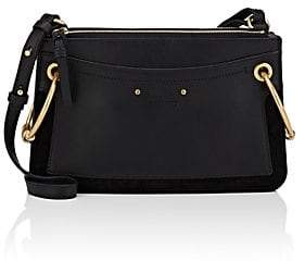 Chloé Women's Roy Small Leather & Suede Shoulder Bag - Black