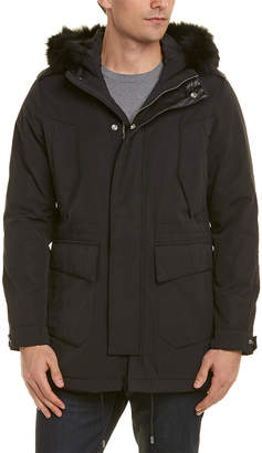 The Kooples Leather-Trim Parka