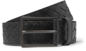 Bottega Veneta 3.5cm Black Intrecciato Leather Belt