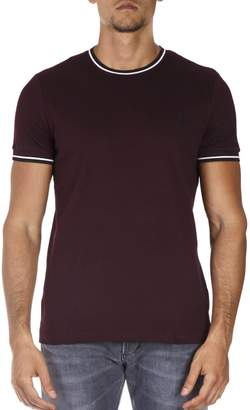 Fred Perry Mahogany Cotton T-shirt